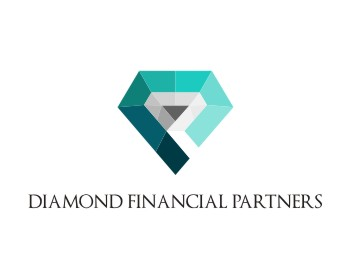 DIAMOND FINANCIAL PARTNERS logo design