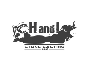 H and I Stone Casting logo design
