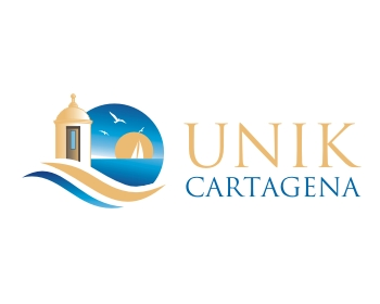 Travel & Hospitality logo design for UNIK Cartagena