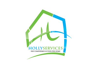 hollyservices logo design