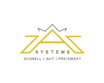 Technology logo design for ZAR Systems