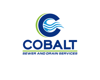 Cobalt Sewer and Drain Services logo design