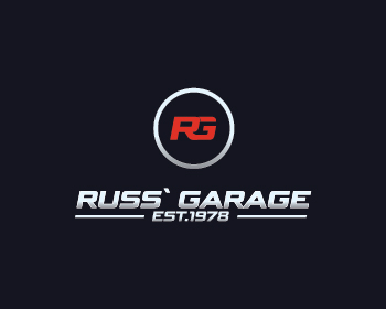 Russ' Garage logo design