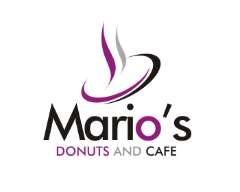 Logo design for Mario's Donuts and Cafe