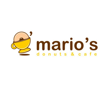 Restaurant logos (Mario's Donuts and Cafe)