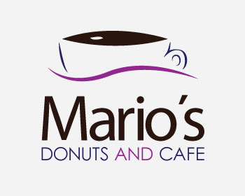 Restaurant logo design for Mario's Donuts and Cafe