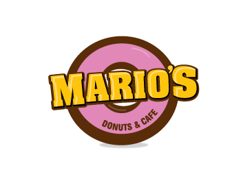 Mario's Donuts and Cafe logo design