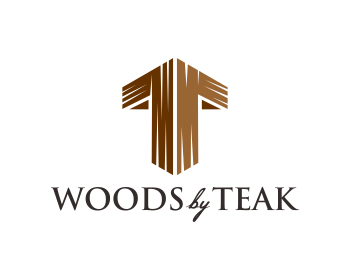 Woods by Teak logo design