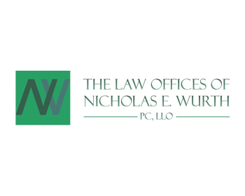 Legal logo design for The Law Offices of Nicholas E. Wurth, PC, LLO