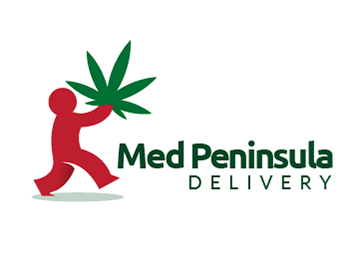 Med Peninsula delivery logo design