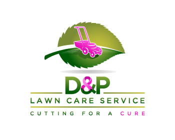 D & P Lawn Care Services logo design