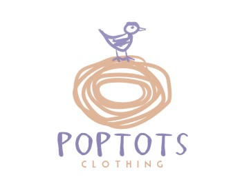 PopTots Clothing logo design