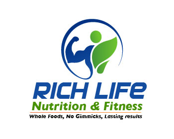 Rich Life Nutrition & Fitness logo design