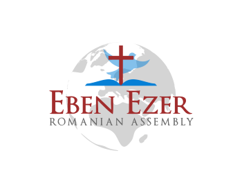 Eben Ezer Romanian Assembly logo design