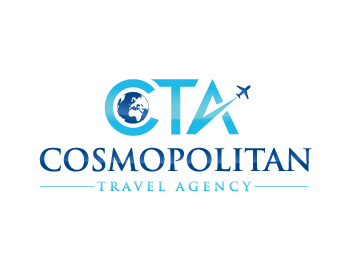 Cosmopolitan Travel Agency logo design