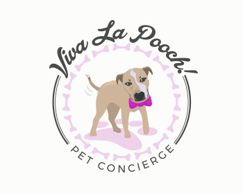 Logo design for Viva La Pooch! Pet Concierge