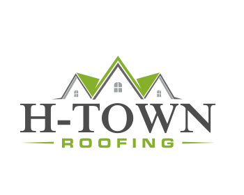 H-Town Roofing logo design