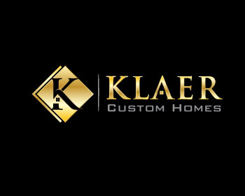Klaer Custom Homes logo design