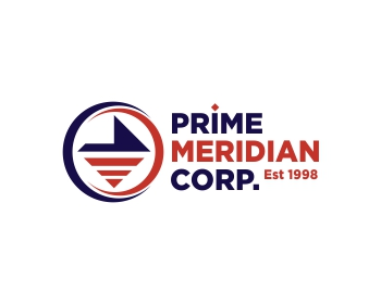 Technology logo design for Prime Meridian Corp.