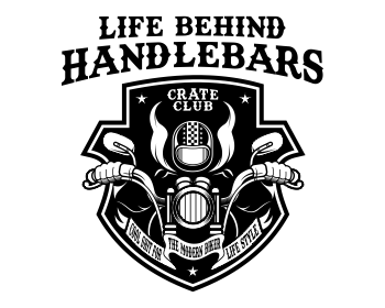 Life Behind Handlebars Crate Club logo design