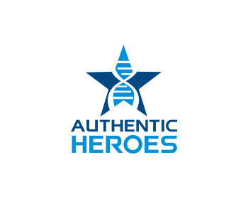 Authentic Heroes logo design