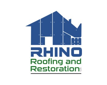 Rhino Roofing and Restoration LLC. logo design