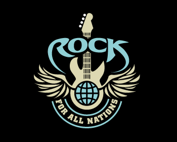 Rock for all Nations logo design