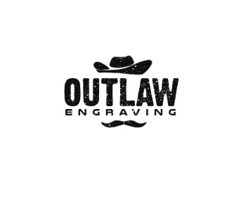 Outlaw Engraving logo design