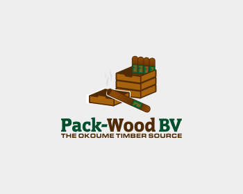 Pack-Wood BV logo design