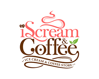 Logo design for iScream & Coffee