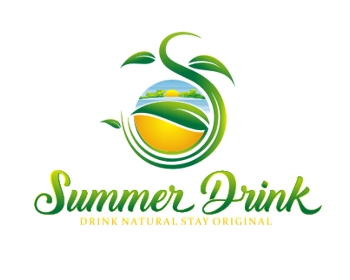 summer drink srl logo design
