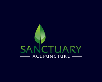 Sanctuary Acupuncture logo design