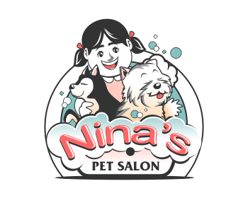 NINA'S PET SALON logo design