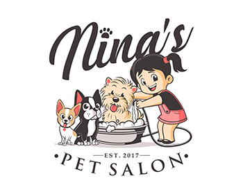 logo: NINA'S PET SALON