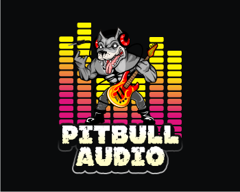 Pitbull Audio logo design
