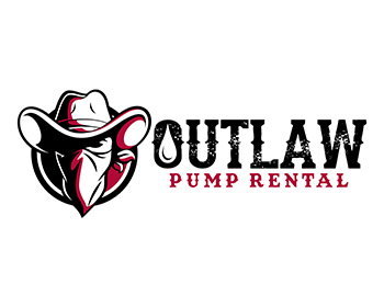 Outlaw Pump Rental logo design