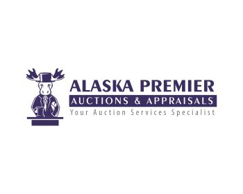 Alaska Premier Auctions and Appraisals logo design