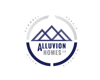 Alluvion Homes LLC logo design