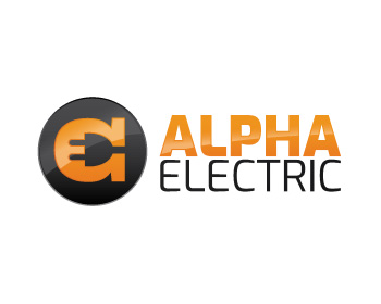 Alpha Electric logo design