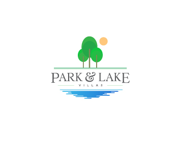 Park and Lake Villas logo design