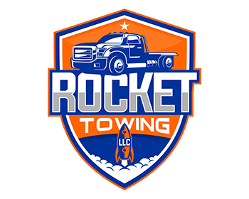 Logo Rocket Towing & Hauling LLC.