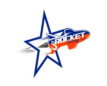 Rocket Towing & Hauling LLC. logo design