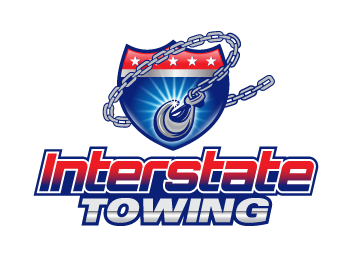 INTERSTATE TOWING logo design