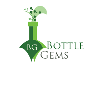 Bottle Gems logo design