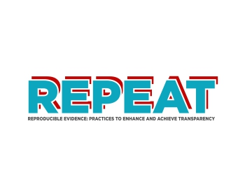 Reproducible Evidence: Practices to Enhance and Achieve Transparency (REPEAT) logo design