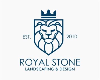 Royal Stone Landscaping & Design logo design