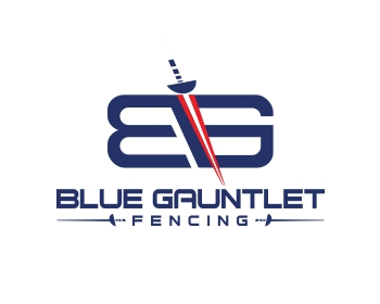 Logo design for Blue Gauntlet Fencing