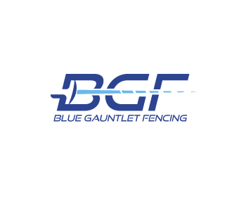 Blue Gauntlet Fencing logo design