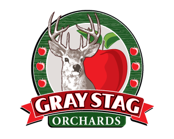 Gray Stag Orchards logo design