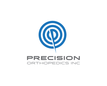 precision orthopedics Inc logo design